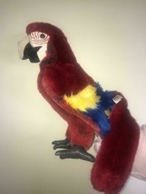 """Folkmanis SCARLET MACAW Full Body  Hand Puppet 15"""" - $17.82"""