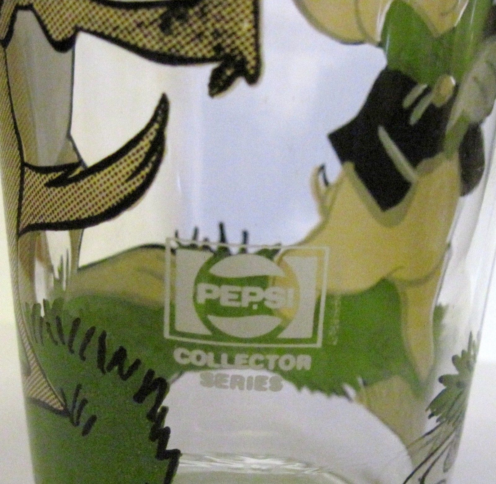 1976 PORKY PIG & TASMANIAN TAZ PEPSI COLLECTOR SERIES INTERACTION GLASS WARNER image 6