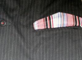 NWT AI AMERICAN IDOL SPORTS COAT BLAZER Navy Blue Stripes Red White Blue Lining image 7