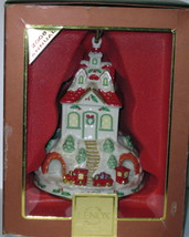 NIB LENOX 2008 Annual Holiday Ride Christmas Ornament Train Station Depot Train image 1