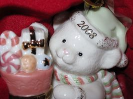 NIB Lenox 2008 Annual Teddy's Special Stocking  Christmas Ornament Bear fine chi image 1