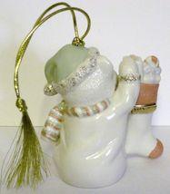 NIB Lenox 2008 Annual Teddy's Special Stocking  Christmas Ornament Bear fine chi image 6