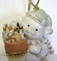 NIB Lenox 2008 Annual Teddy's Special Stocking  Christmas Ornament Bear fine chi image 8