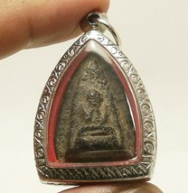 LP BOON BUDDHA CHANT MAGIC BLESSING LUCKY RICH SUCCESS REAL THAI AMULET PENDANT image 1