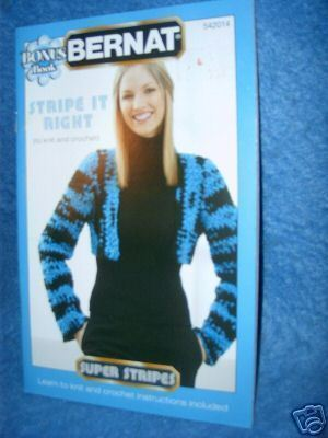 Bernat Bonus Book, Stripe It Right to Knit & Crochet