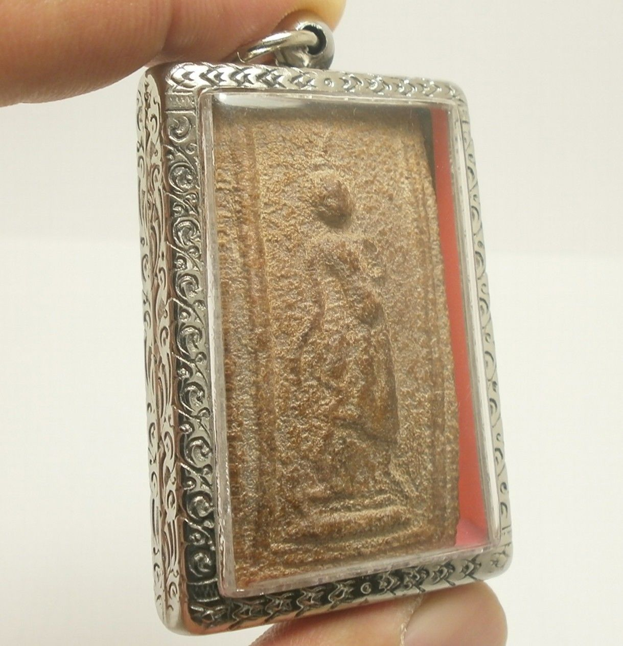 LP BOON BEST LEELA LORD BUDDHA WALKING OVER OBSTACLES THAI POWERFUL GREAT AMULET image 2