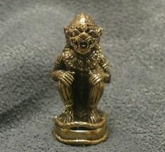 LORD HANUMAN RAMAYANA MONKEY KING MUAY THAI LIFE PROTECTION MINI AMULET TALISMAN image 1