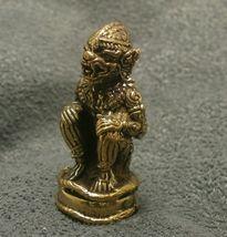 LORD HANUMAN RAMAYANA MONKEY KING MUAY THAI LIFE PROTECTION MINI AMULET TALISMAN image 5