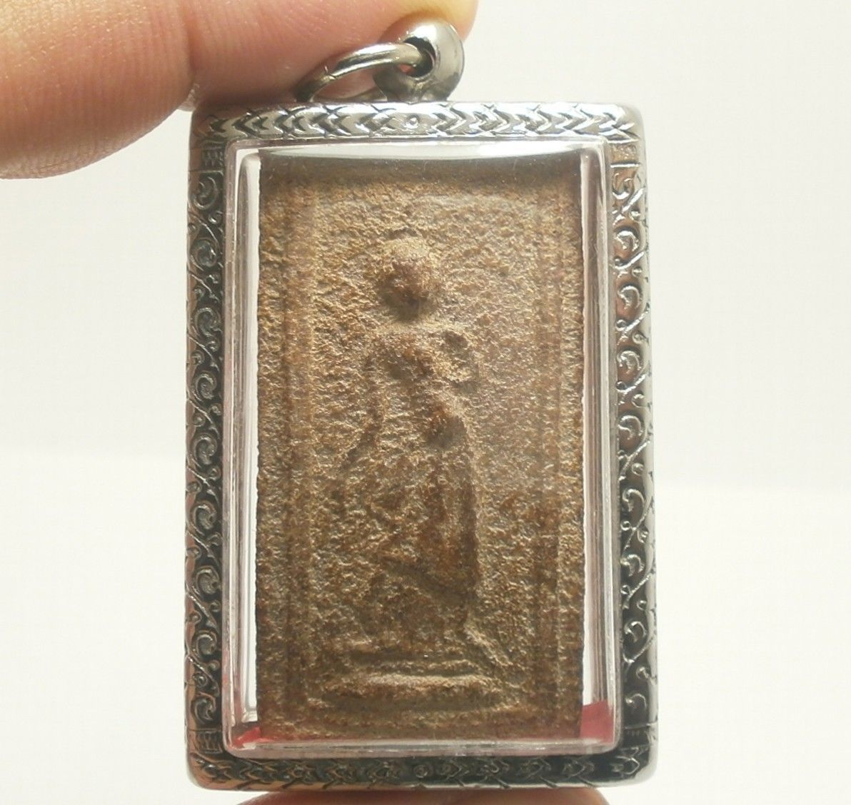 LP BOON BEST LEELA LORD BUDDHA WALKING OVER OBSTACLES THAI POWERFUL GREAT AMULET image 7