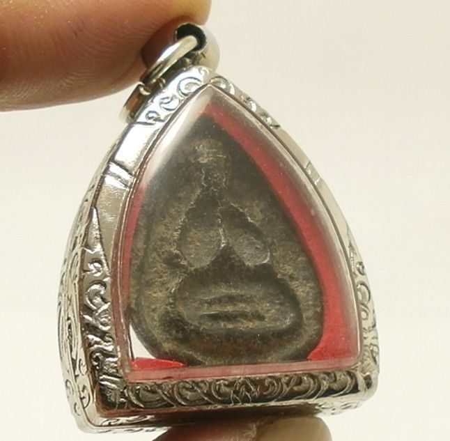 PIDTA CLOSE EYES BUDDHA LP BOON THAI AMULET SUPER STRONG LIFE PROTECTION PENDANT image 2