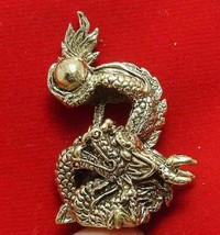 LUCKY DRAGON HOLD MAGIC FIRE BALL REAL CHINA THAI MINI AMULET THAILAND NICE GIFT image 2