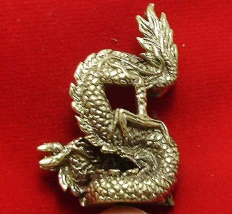 LUCKY DRAGON HOLD MAGIC FIRE BALL REAL CHINA THAI MINI AMULET THAILAND NICE GIFT image 3