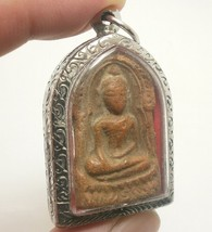 PHRA SOOMGOR MONEY RICH LUCKY HAPPY PEACEFUL LIFE THAI BUDDHA TOP AMULET PENDANT image 2