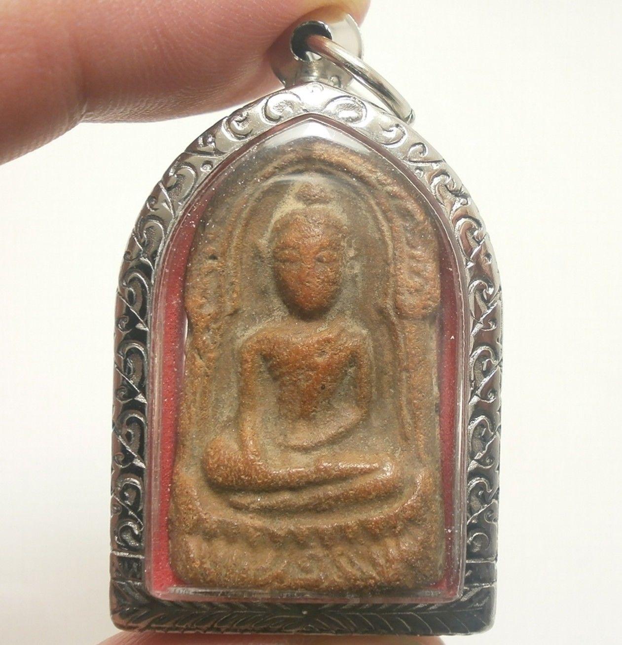 PHRA SOOMGOR MONEY RICH LUCKY HAPPY PEACEFUL LIFE THAI BUDDHA TOP AMULET PENDANT image 4