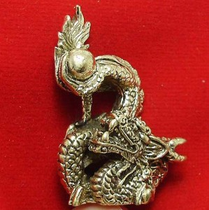 LUCKY DRAGON HOLD MAGIC FIRE BALL REAL CHINA THAI MINI AMULET THAILAND NICE GIFT image 4