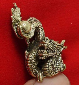 LUCKY DRAGON HOLD MAGIC FIRE BALL REAL CHINA THAI MINI AMULET THAILAND NICE GIFT image 5