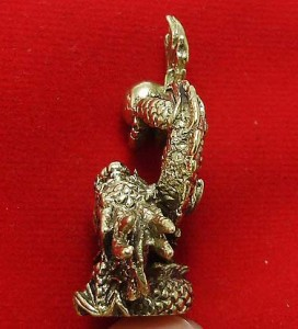 LUCKY DRAGON HOLD MAGIC FIRE BALL REAL CHINA THAI MINI AMULET THAILAND NICE GIFT image 6