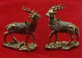 THAI MINI AMULET CHARM MAGIC DUO DEER LOVE ATTRACTION SEX APPEAL LUCKY TALISMAN image 5