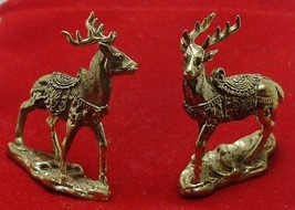 THAI MINI AMULET CHARM MAGIC DUO DEER LOVE ATTRACTION SEX APPEAL LUCKY TALISMAN image 6