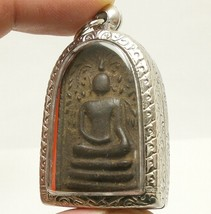 REAL THAI ANTIQUE AMULET LP BOON BUDDHA BLESSING LUCKY RICH HAPPY LOVE LONG LIFE image 3