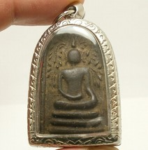REAL THAI ANTIQUE AMULET LP BOON BUDDHA BLESSING LUCKY RICH HAPPY LOVE LONG LIFE image 1