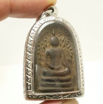 REAL THAI ANTIQUE AMULET LP BOON BUDDHA BLESSING LUCKY RICH HAPPY LOVE LONG LIFE image 2
