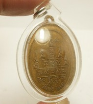 1974 LP PHROM COIN MIRACLE FORTUNE YANTRA THAI BUDDHA AMULET WATERPROOF PENDANT image 6