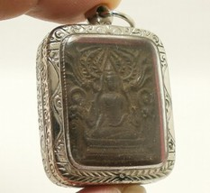LP BOON LORD BUDDHA & 2 DISCIPLES THAI HEALING AMULET LONG HEALTHY LIFE PENDANT image 3