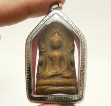 LORD BUDDHA SHINARAJ DHARMA THAI ANTIQUE AMULET LOVE SUCCESS WEALTH RICH PENDANT image 1