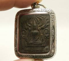 LP BOON LORD BUDDHA & 2 DISCIPLES THAI HEALING AMULET LONG HEALTHY LIFE PENDANT image 4