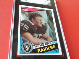 1984 Howie Long Rookie # 238 Topps AFC-PRO Sgc 82 Raiders Football - $29.99