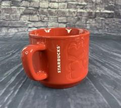 Starbucks Red Hearts Valentines Ceramic Coffee Mug 12 fl oz - $32.38