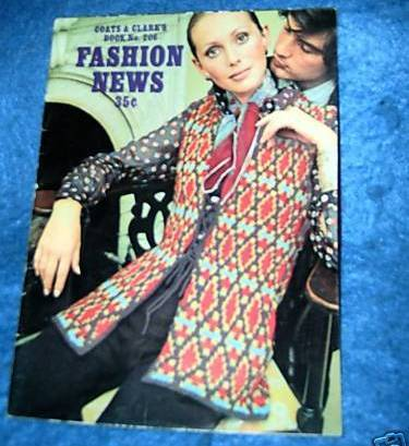 Coats & Clark's, Fashion News Book #206 Knit & Crochet Bonanza
