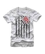 Gas Monkey Garage Wrench Flag T-Shirt White - $26.98+