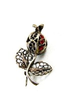 Handmade Sterling Silver Filigree Flower / Bud Brooch 81814 - $24.74
