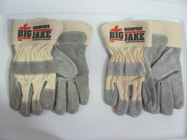 2 Pair Memphis 1700 Big Jake Leather Palm Gloves With DuPont Kevlar Size... - $11.95