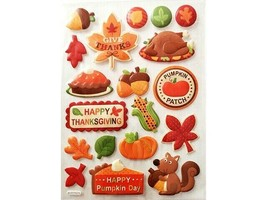 Hobby Lobby Puffy Happy Thanksgiving Stickers, 19 Pieces #5141916
