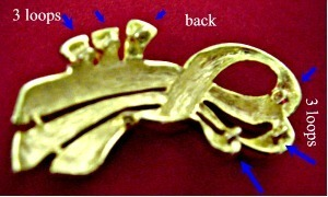 VINTAGE NECKLACE SIDE OR CENTERPIECE GOLD FOR 3 STRANDS