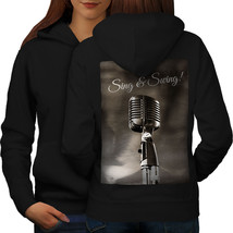 Sing Swing Song Vintage Sweatshirt Hoody Music Sound Women Hoodie Back - $21.99+
