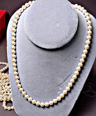 JAPANESE PEARLS W/ BEAUTIFUL LUSTER,  OLDER STOCK