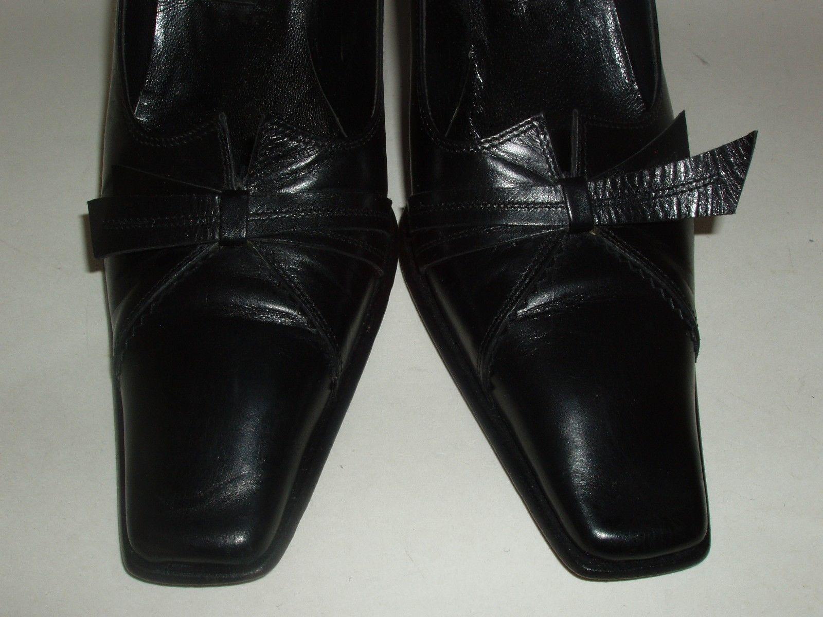 Roberto Botticelli Italian Made Black Leather High Heel Shoes Euro 37.5 US 7.5