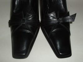 Roberto Botticelli Italian Made Black Leather High Heel Shoes Euro 37.5 US 7.5 image 1