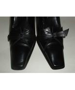 Roberto Botticelli Italian Made Black Leather High Heel Shoes Euro 37.5 ... - $36.75