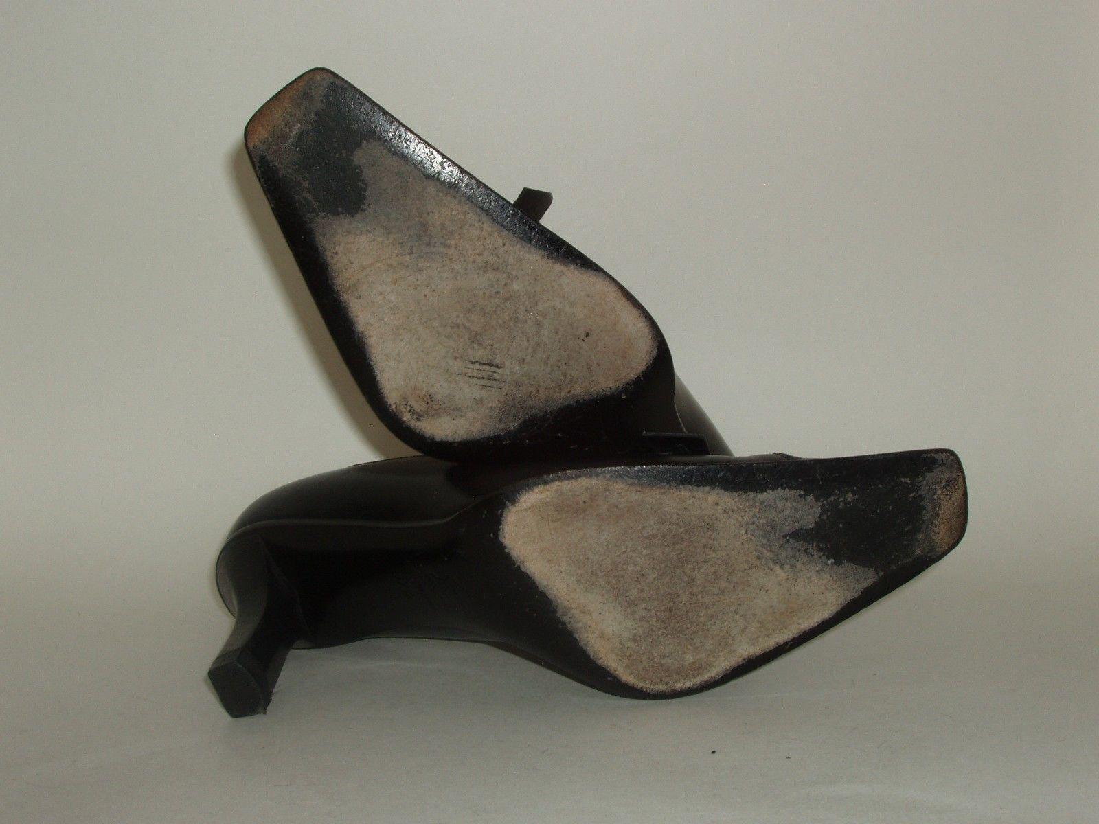 Roberto Botticelli Italian Made Black Leather High Heel Shoes Euro 37.5 US 7.5 image 6