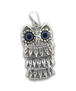 Goddess Athena's Wise Little Owl  - Sterling Silver Pendant - D  - $30.00