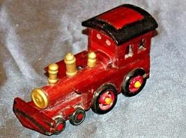 Wooden Train Engine AA20-2077 Vintage (Handmade)