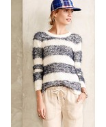 NWT ANTHROPOLOGIE EYELASH STRIPE PULLOVER SWEATER by TABITHA XL - $85.49