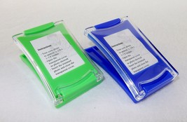 Magnetic Clip Photo Frames ~ Set of 2, Large Plastic, Spring Load, Green... - $7.95