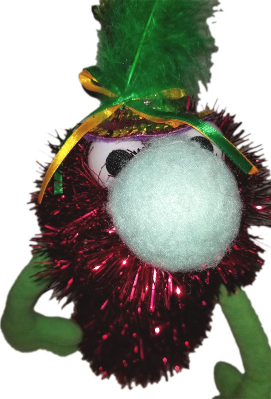"C14 * Deluxe Custom ""Sparkly Red Monster w/Top Hat""  Sock Puppet * Custom Made"
