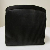 Black Satin 3 Section Small Evening Bag image 1